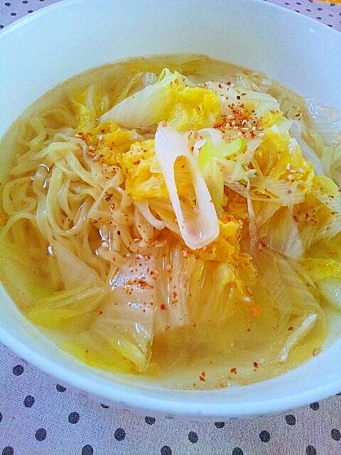 タンメン白菜とねぎの簡単麺