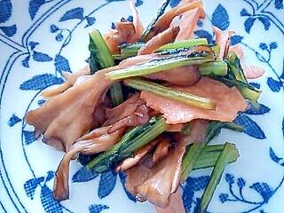 お弁当に♪小松菜と舞茸とハムの簡単炒め