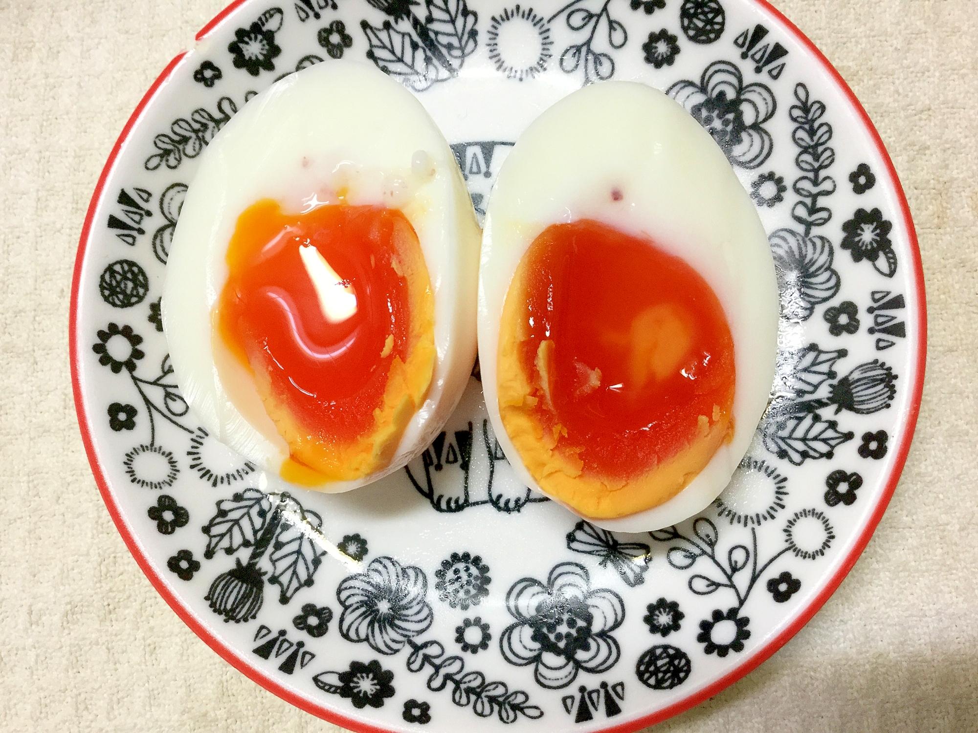 2. おいしいおつまみ♪ 半熟時短塩卵