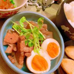 塩豚と蒟蒻の旨辛山椒煮