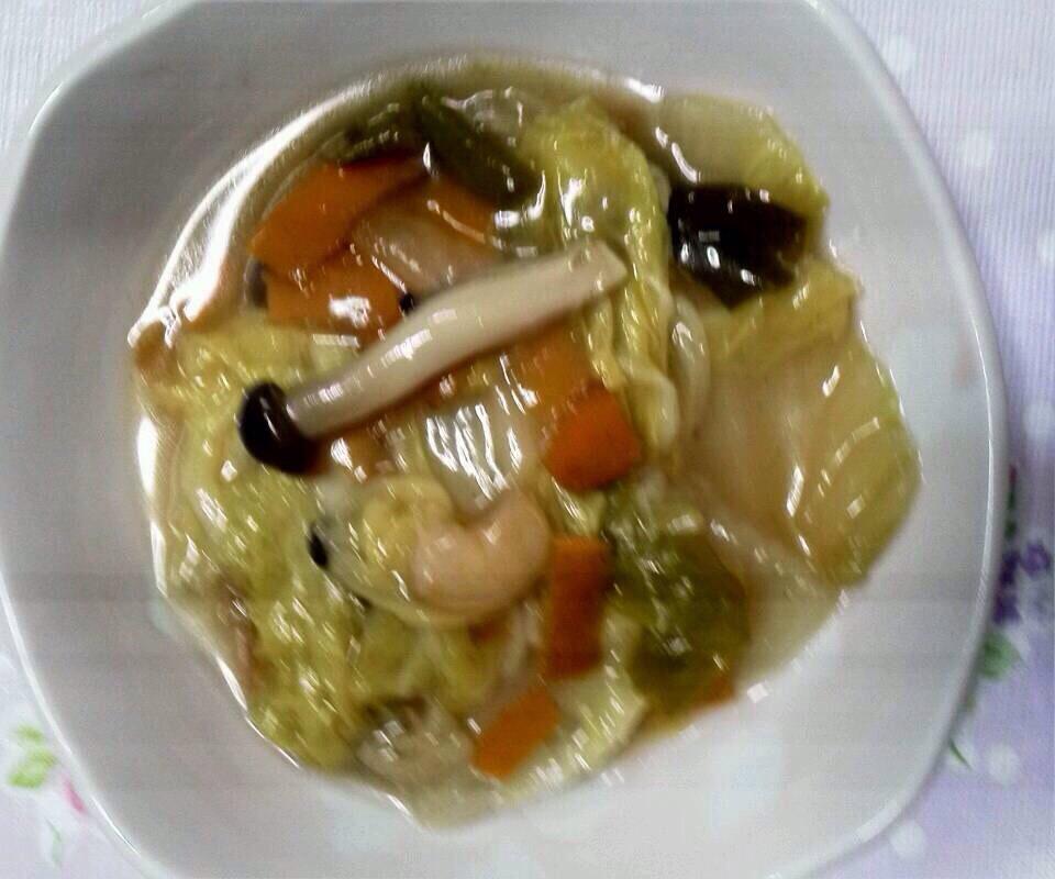 《八宝菜》冷凍海老入り