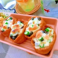 納豆とおくらのお稲荷さんドリア