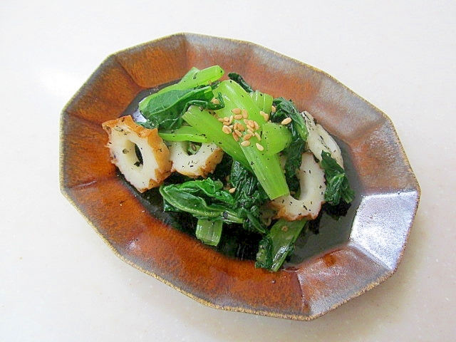 *小松菜と竹輪の簡単おひたし*