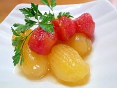トマトポンチ(ミニトマトのはちみつデザート♪)