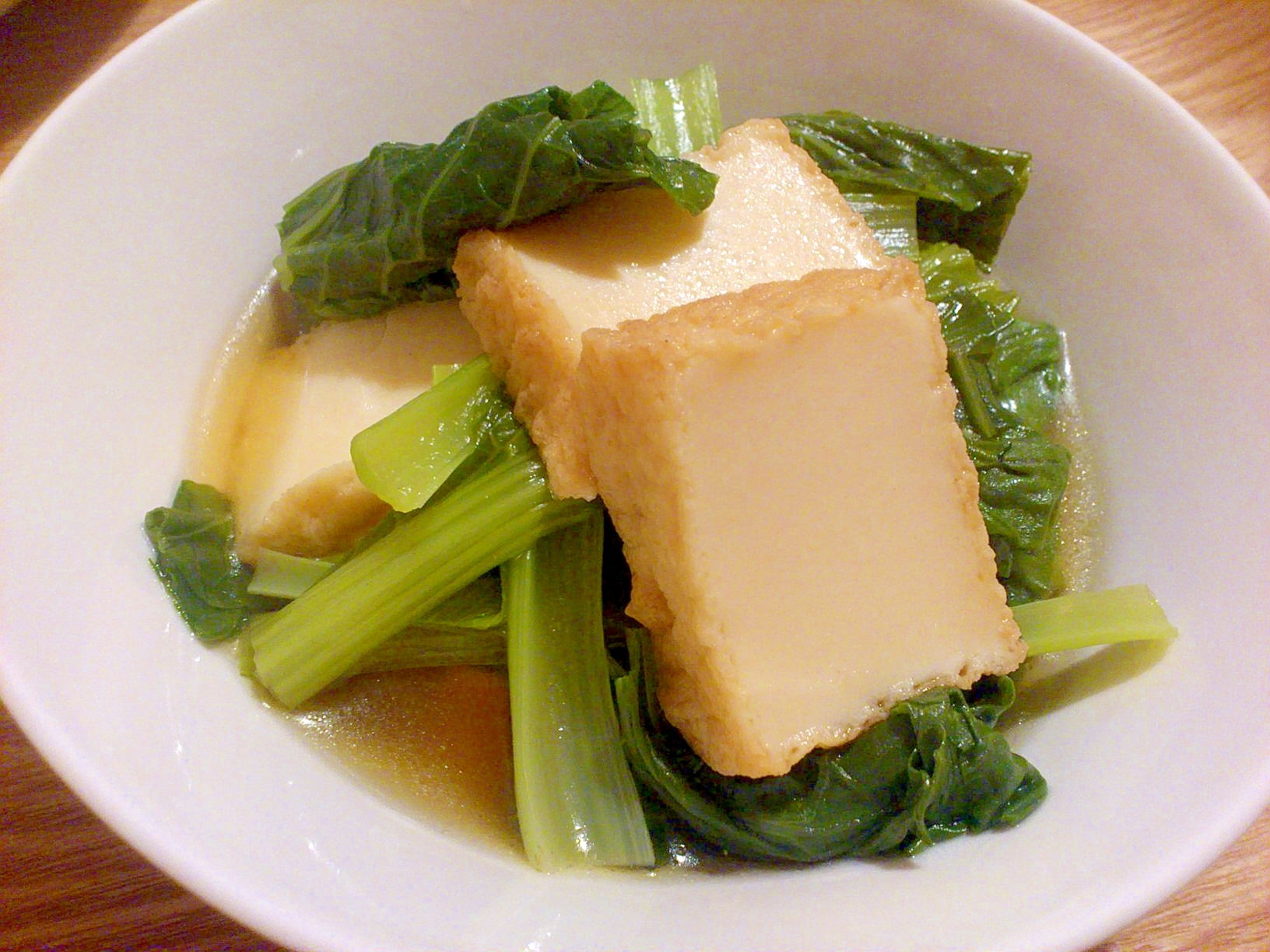 3分で完成☆小松菜と厚揚げのさっと煮
