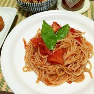 ツナ と トマト の 冷 製 パスタ