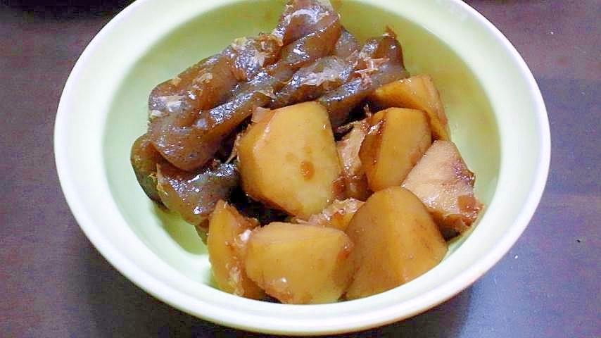 4. サトイモとこんにゃくの土佐煮