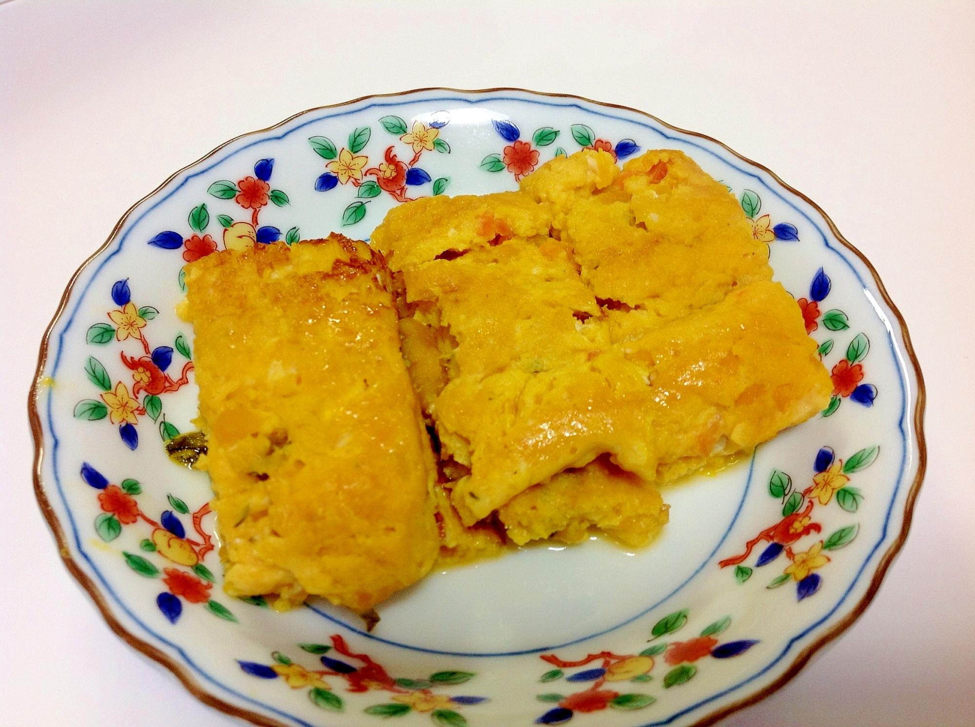 リメイク☆南瓜の煮物で出汁巻き卵