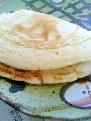 ホットケーキの、クリームチーズチョコサンド
