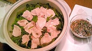 冷蔵庫の夏野菜と豚肉でヘルシー蒸鍋、香味だれで
