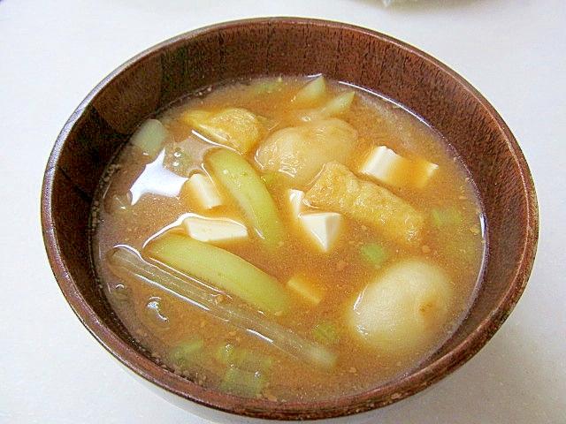 *大根と豆腐・お麩の味噌汁*