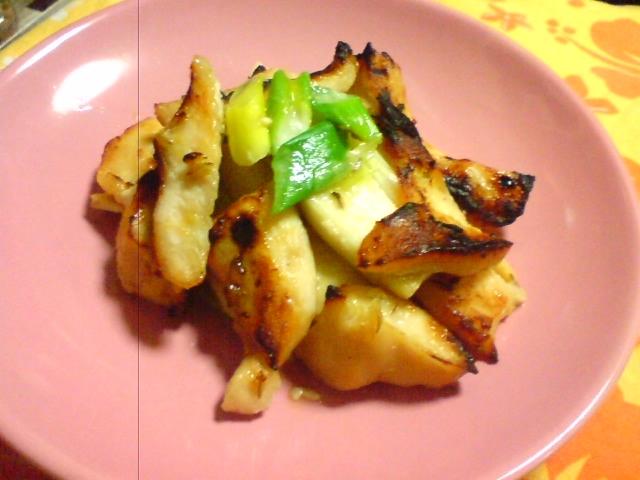 鶏とエリンギの味噌ホイル焼き