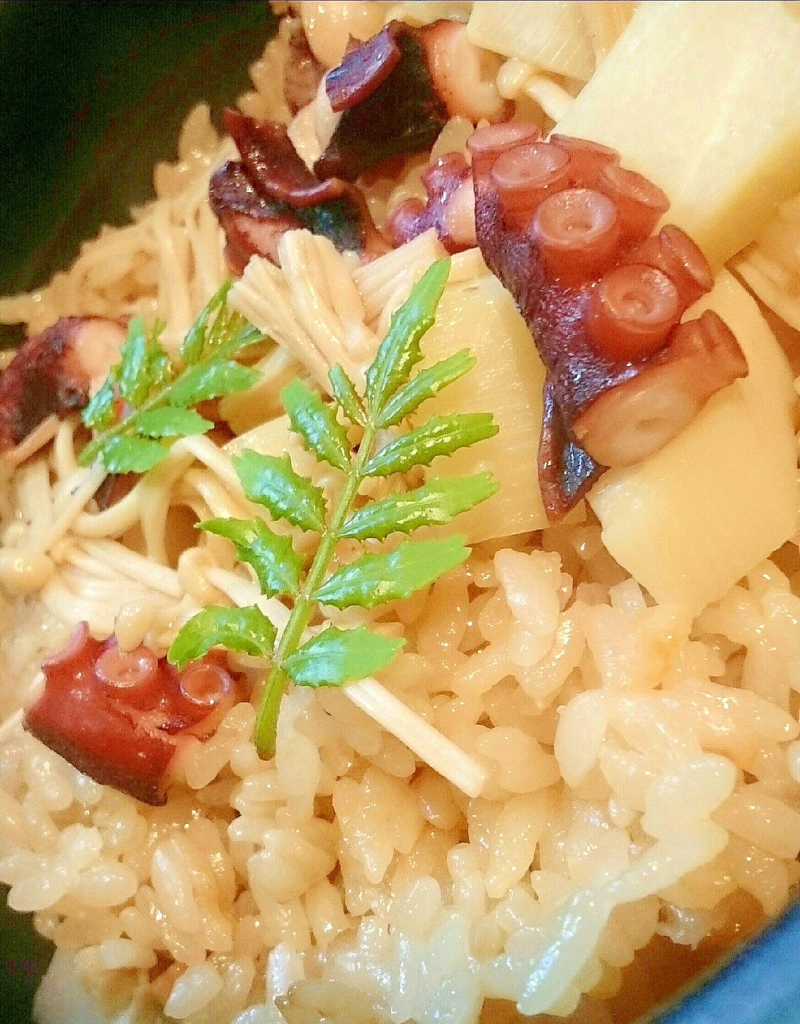 2. タコの炊き込みご飯