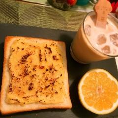 レモンチーズカスタードdeブリュレトースト