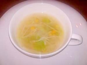 生姜入りコンソメスープ