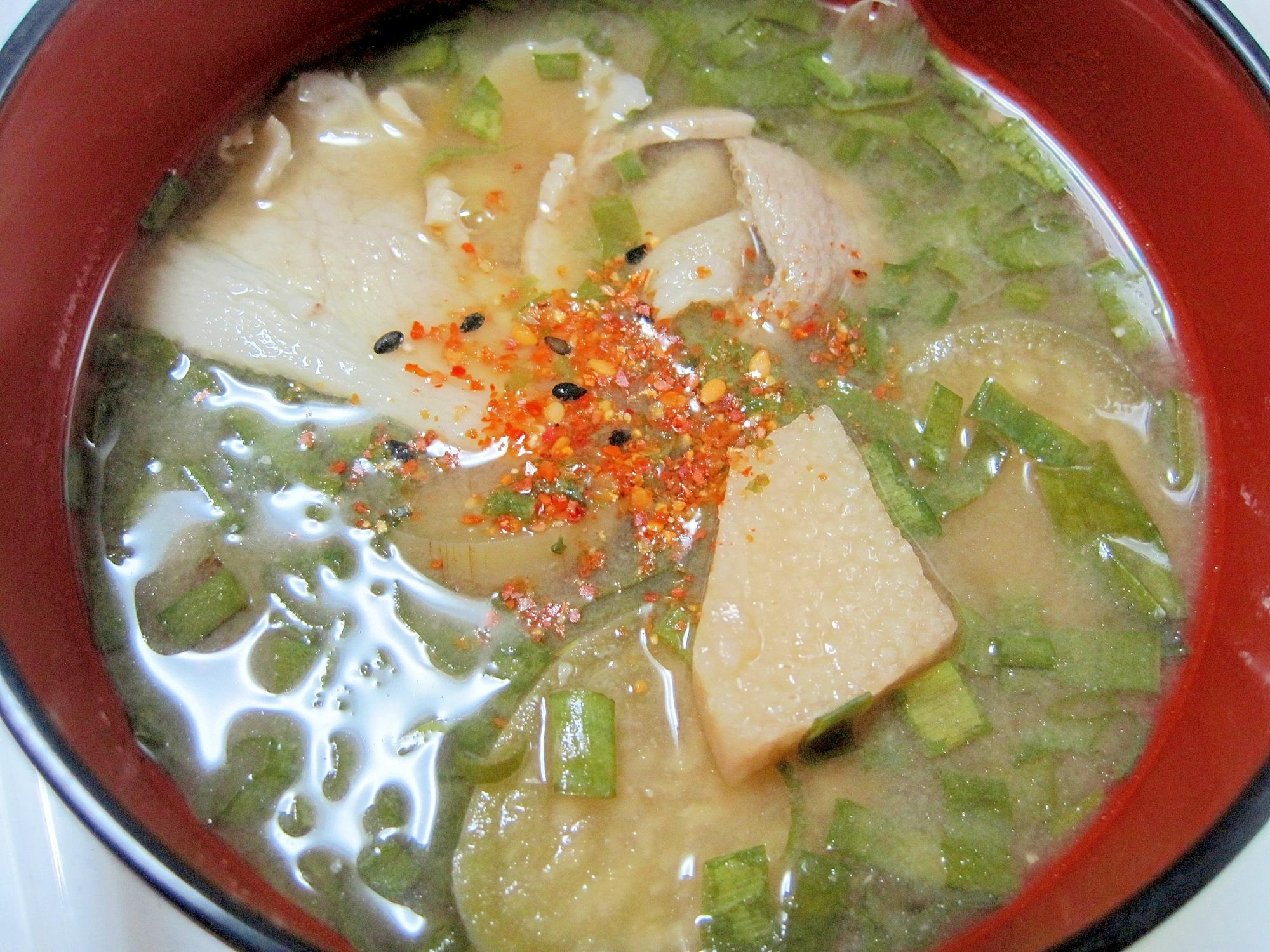 4. 長芋の豚汁
