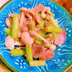 鶏レバーとにんにくの芽の簡単炒め