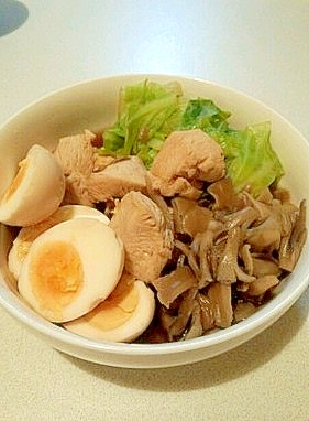 鶏ムネ肉のラーメンスープ煮