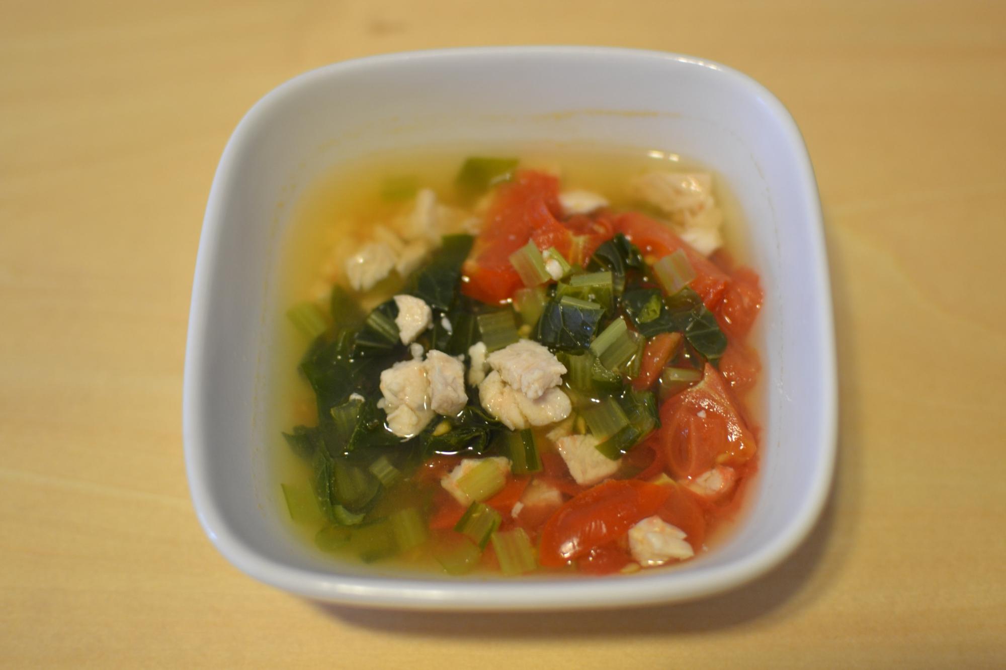*離乳食後期*野菜たっぷり鶏スープ