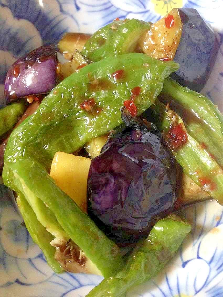 揚げ野菜のバルサミコ&スイートチリソースがけ