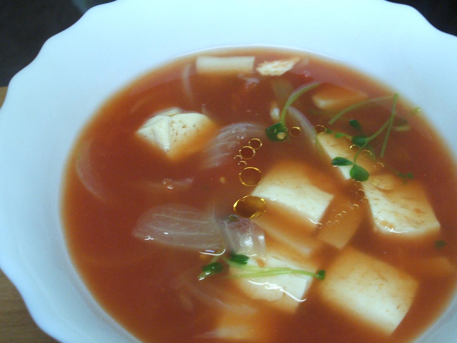 レンジで和風トマトスープ