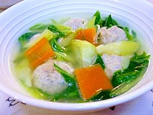 一杯でお腹いっぱい!青梗菜と豚団子のスープ