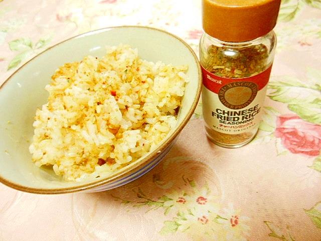 鰹節と炒飯ミックスの生姜マヨご飯