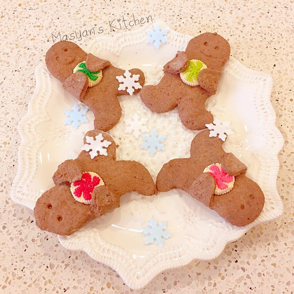 ココア味の抱っこジンジャーブレッドマンクッキー レシピ・作り方 by masya0928|楽天レシピ