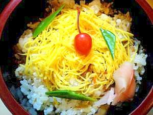 さくらんぼで春彩り★ばら寿司