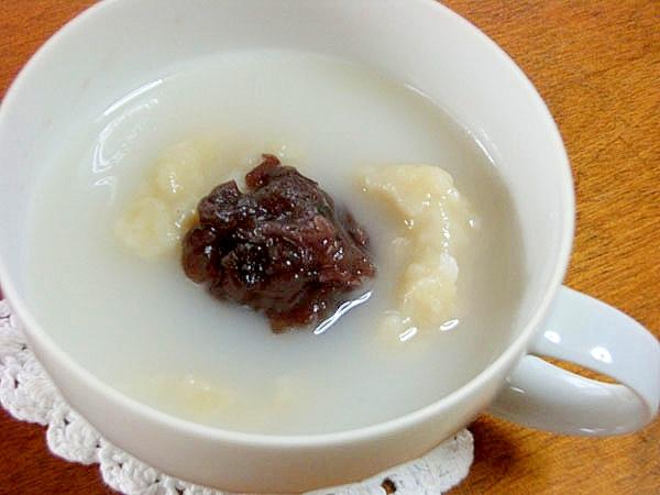和スイーツ♪甘みがプクプク絡むミルクお汁粉