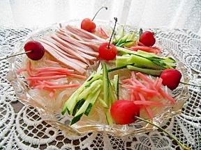 夏はさっぱり春雨のサラダ