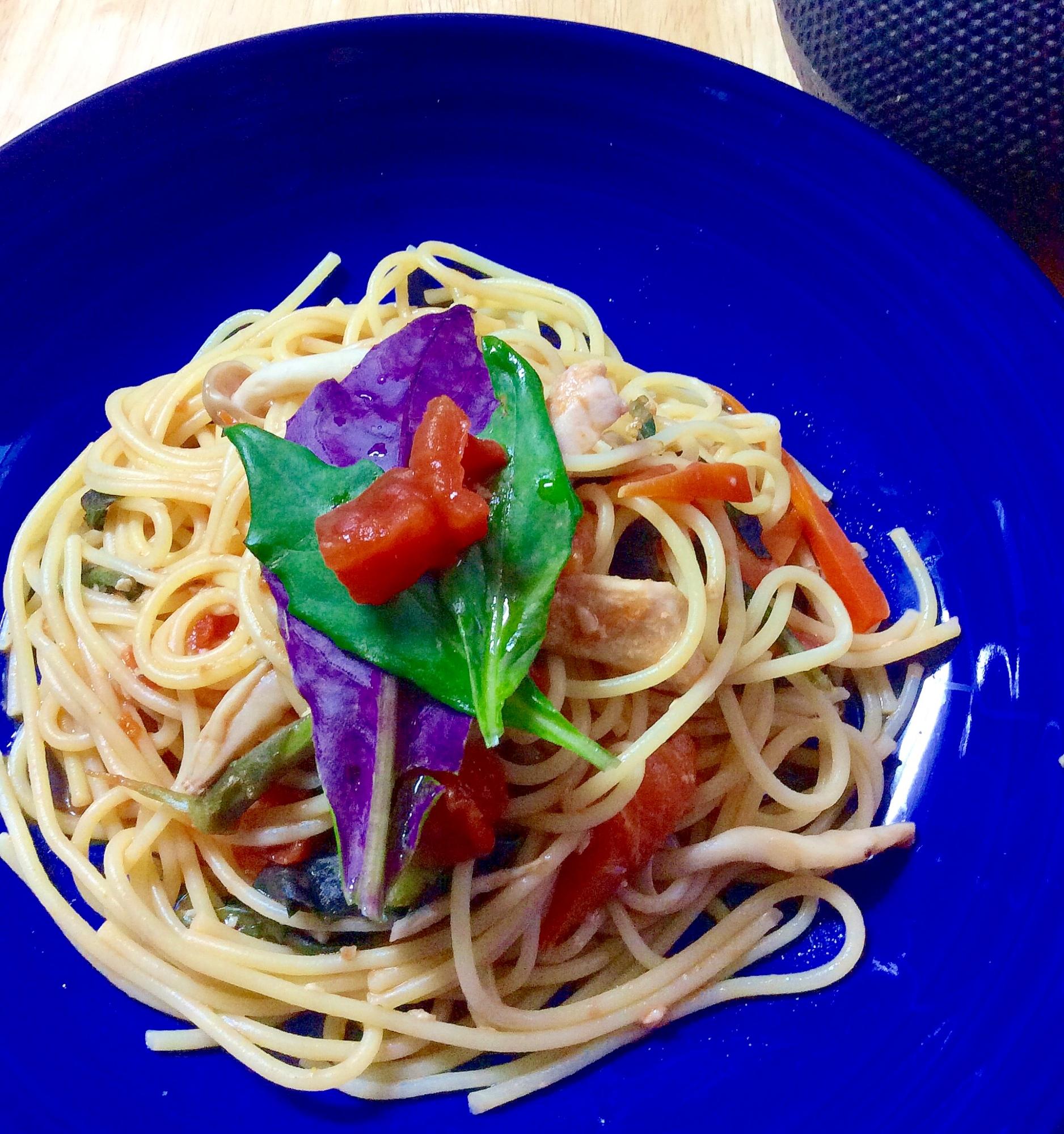 夏野菜★さっぱりハンダマのトマトソースパスタ