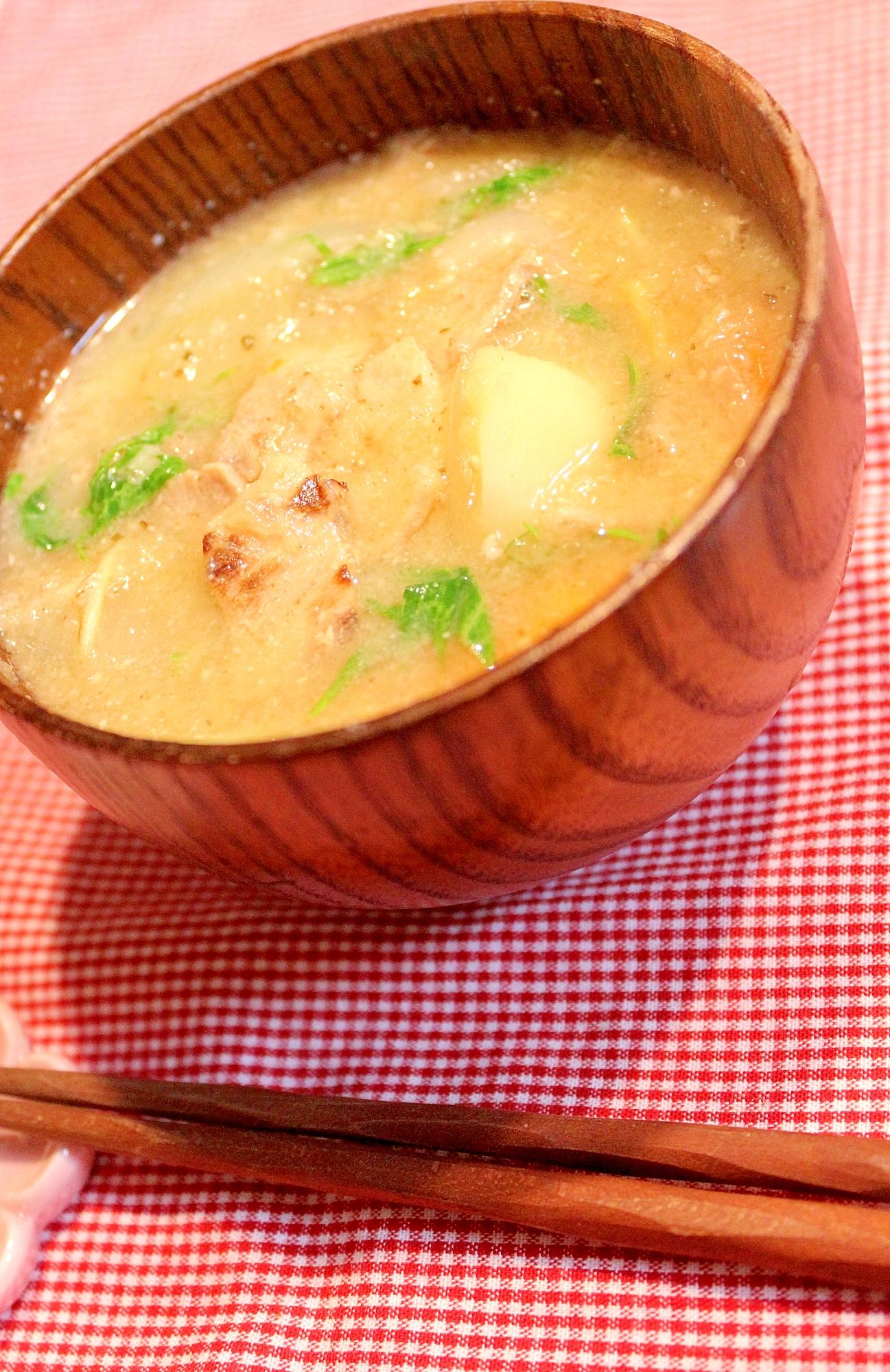 4.陳皮と大根おろしの薬膳味噌汁