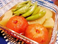 サッパリ美味し~ * トマトと大根の冷製おでん *