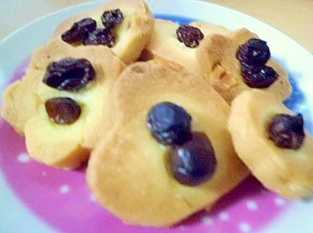 ピーナッツとレーズンのクッキー