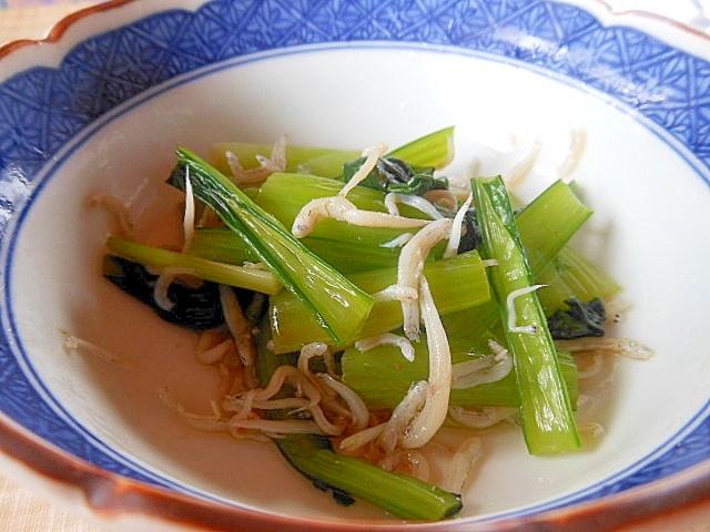 箸休めに~小松菜としらすのポン酢和え