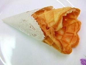 ピッツェルプレートで作ったアイスクリームコーン♪