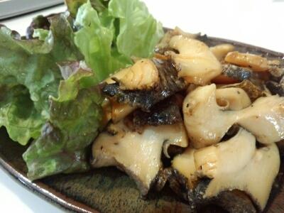 ニシ貝のバター醤油