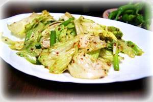 残った野菜で韓国風サラダ