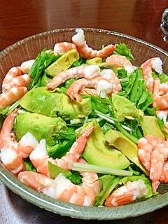 えび~アボカドの水菜サラダ レシピ・作り方 by tnmsam|楽天レシピ