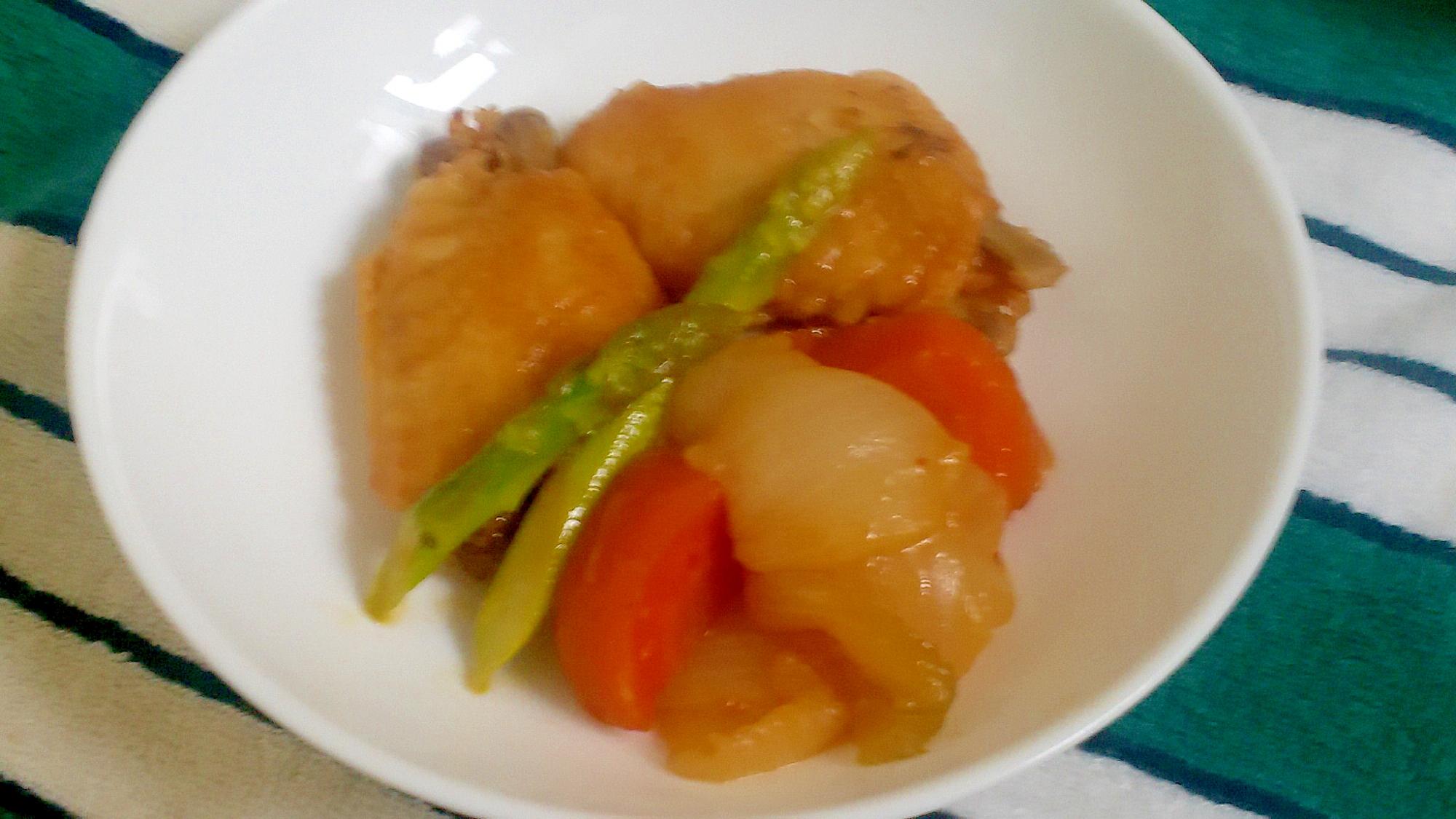 焼肉のたれで簡単♪手羽先と野菜の煮物