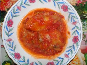 トマトソースへリメーク!ロールキャベツ