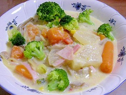 ブラウンえのきと野菜のコーンスープ
