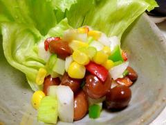 ■10分で仕込み..豆サラダ