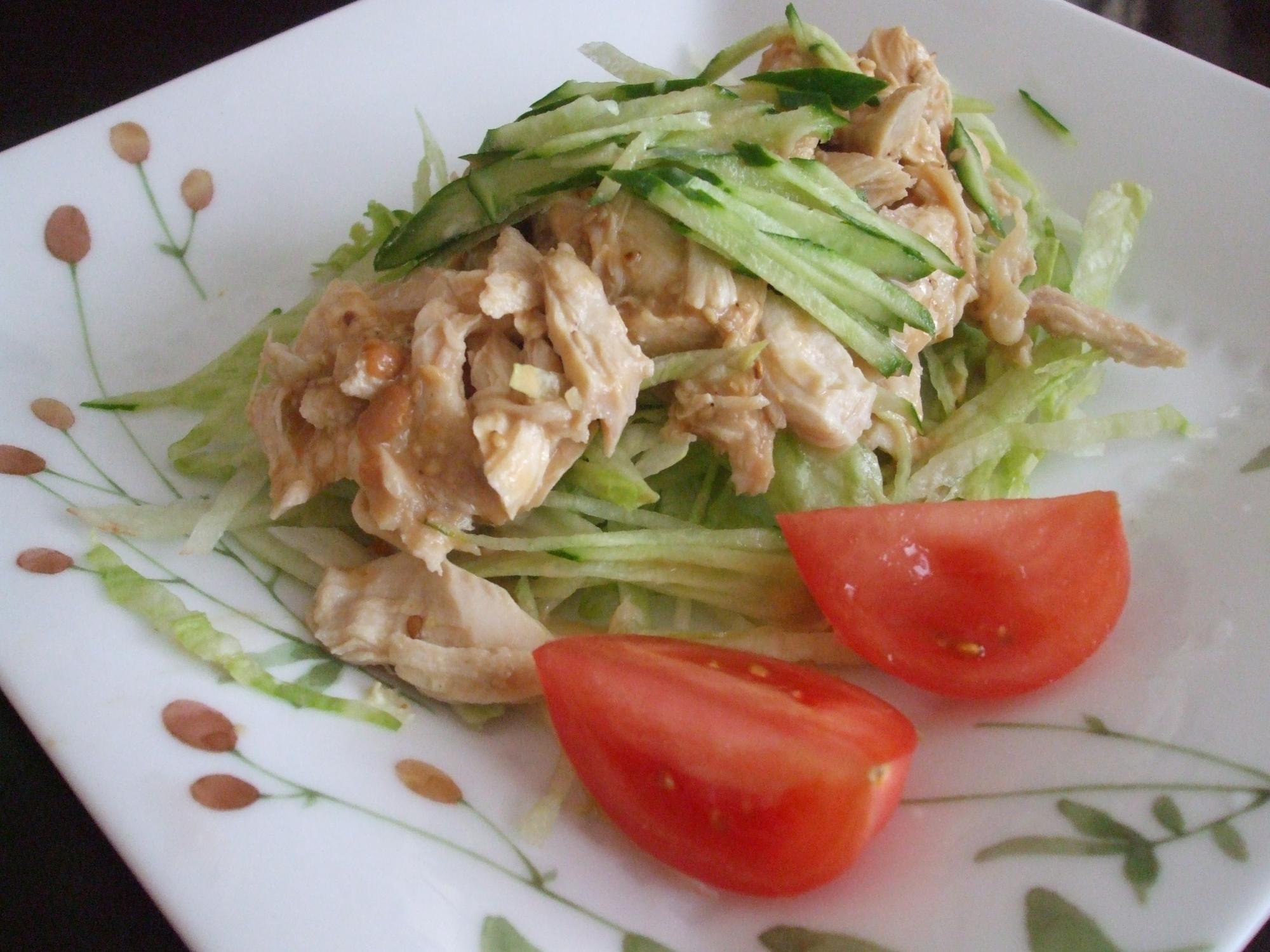 鶏ささみのバンバンジー風サラダ☆