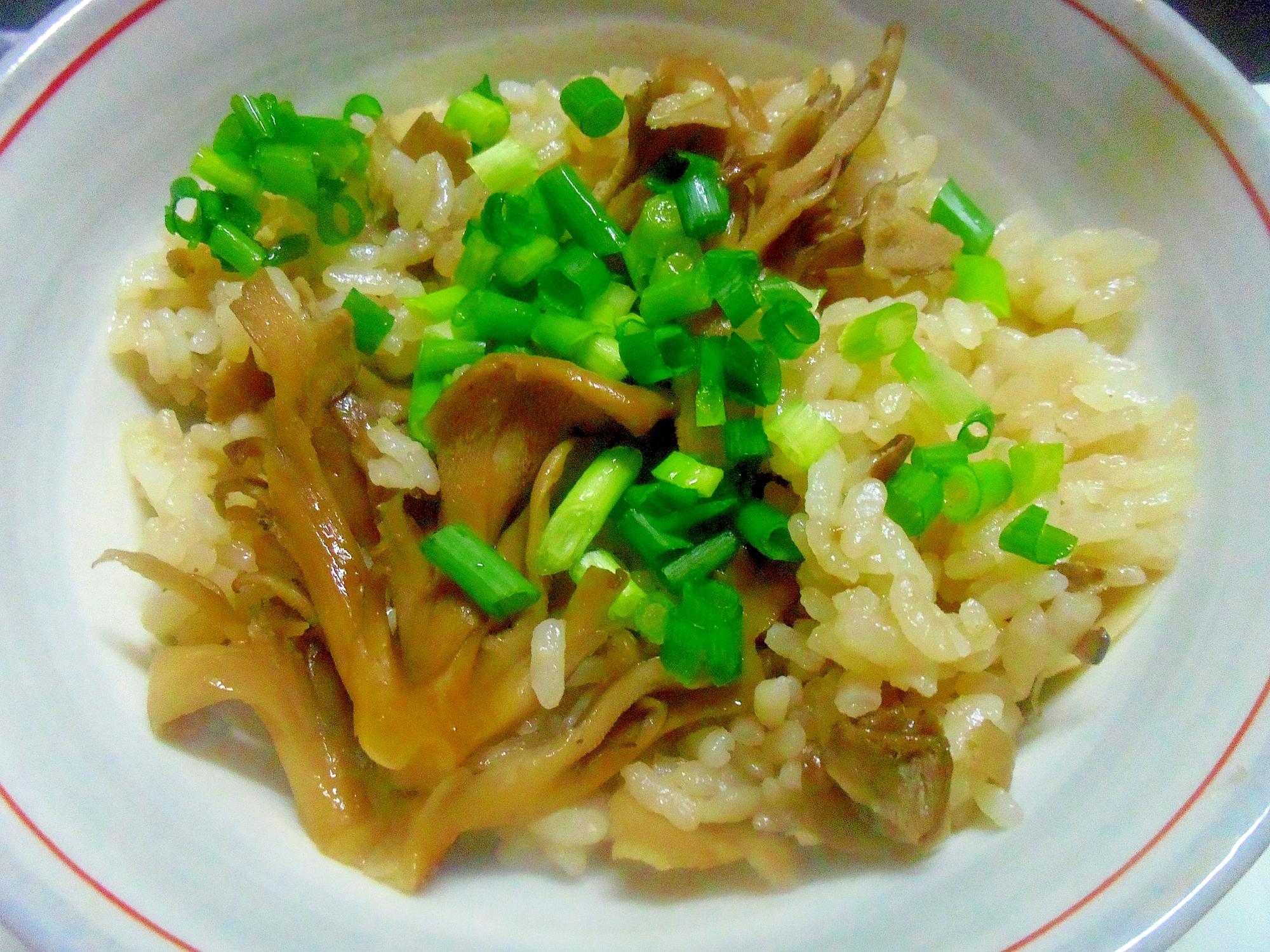 1. ひらたけの炊き込みご飯