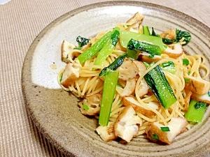 ちくわと小松菜の和風パスタ