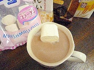 アイスマシュマロ入黄粉ミルクココア酒