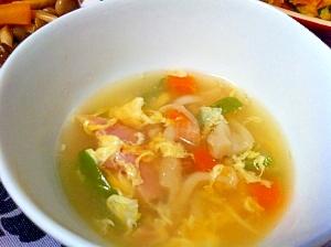 冷蔵庫にあるもので!!野菜と玉子のスープ