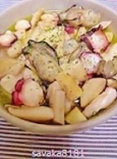 フライパンで簡単♪牡蠣とエリンギのアヒージョ